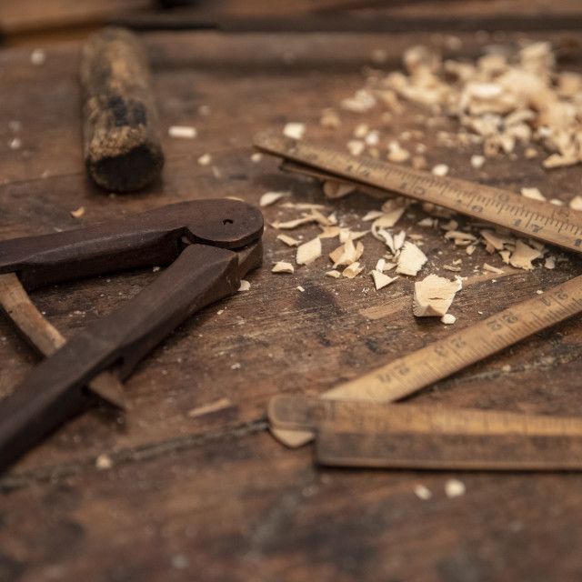 """tools for wooden art work"" stock image"