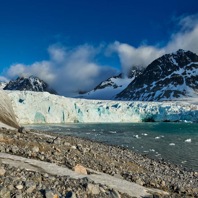 """""""landscape of Magdalenefjorden"""" stock image"""