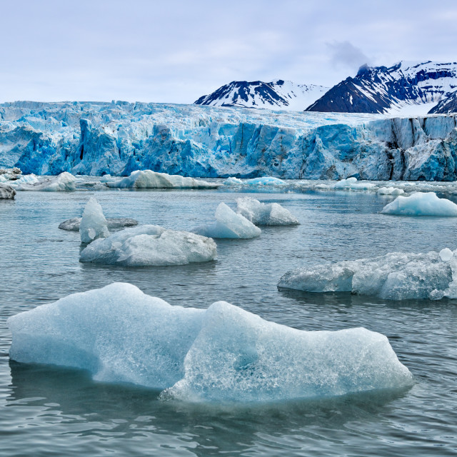 """glacier Dahlbreen"" stock image"