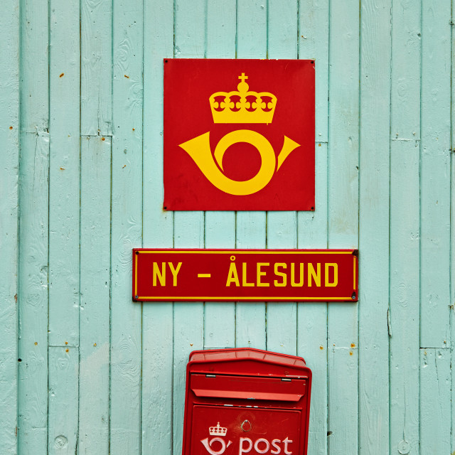"""""""mailbox at the northernmost post office"""" stock image"""