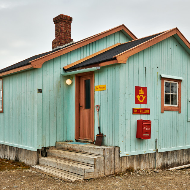 """""""the northernmost post office"""" stock image"""