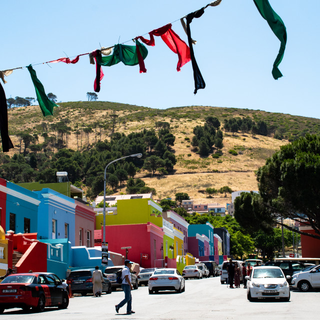 """""""The Colorful Houses of Bo Kaap"""" stock image"""