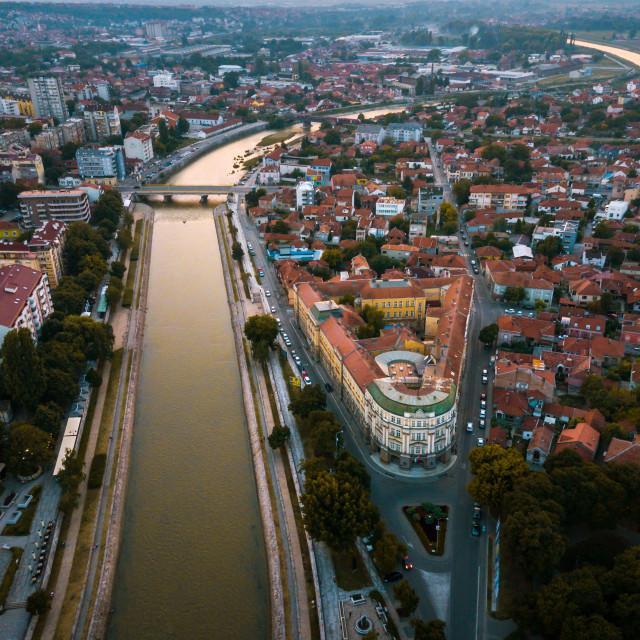 """""""City of Nis aerial landmark view in Serbia"""" stock image"""