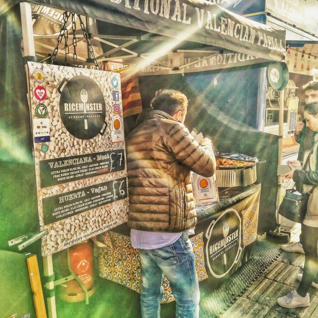 """Street food stall"" stock image"