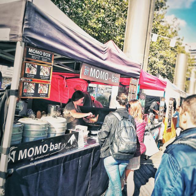 """Pop up street food stall"" stock image"