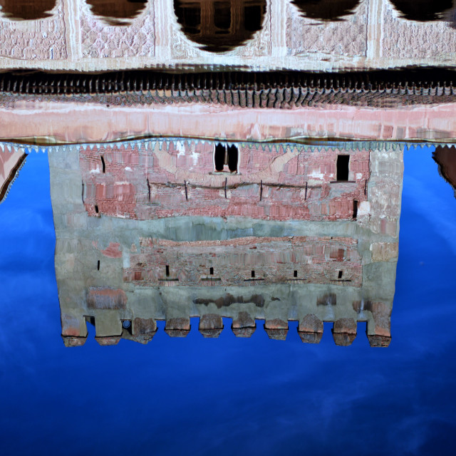 """""""The Alhambra reflected"""" stock image"""
