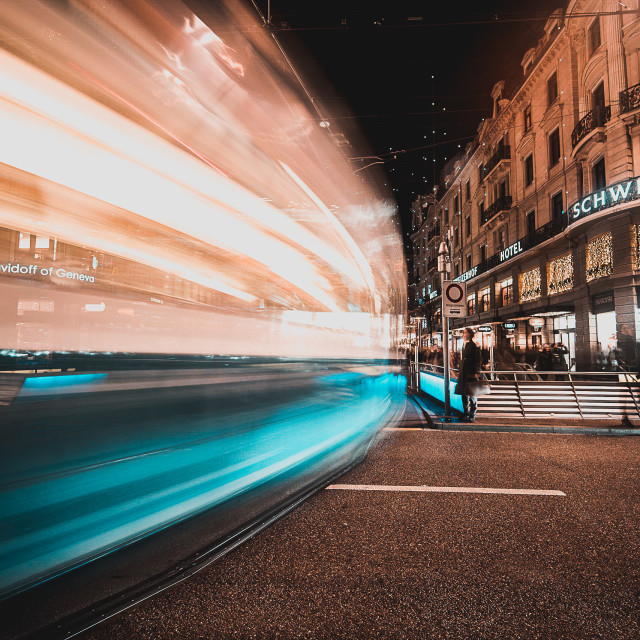 """""""FAST TRAM (FULL SIZE FOR PRINTS)"""" stock image"""