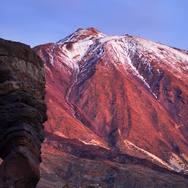 """Roque Cinchado and Mount Teide Before Dawn"" stock image"