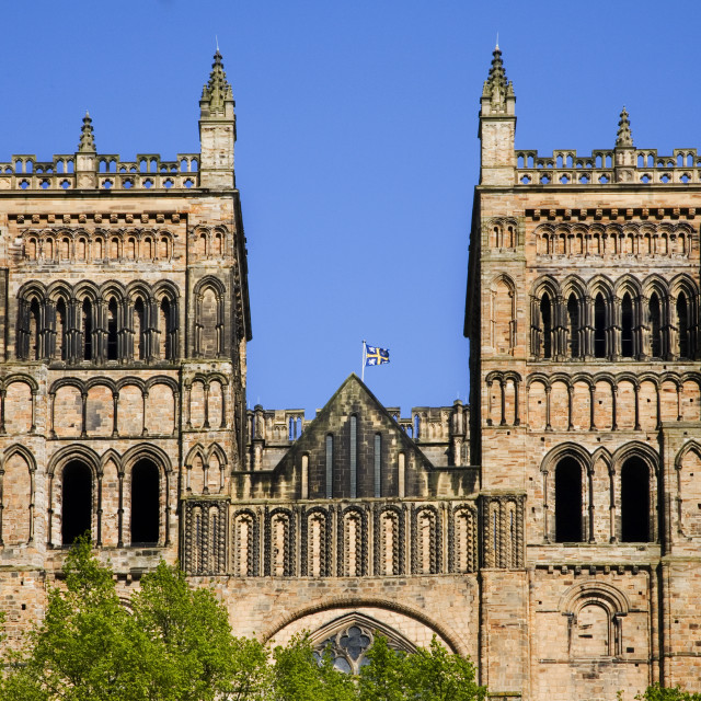 """""""Durham Cathedral in Spring"""" stock image"""