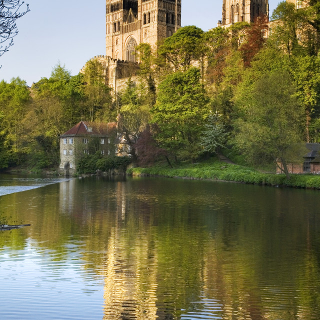 """""""Durham Catherdral at Sunset"""" stock image"""