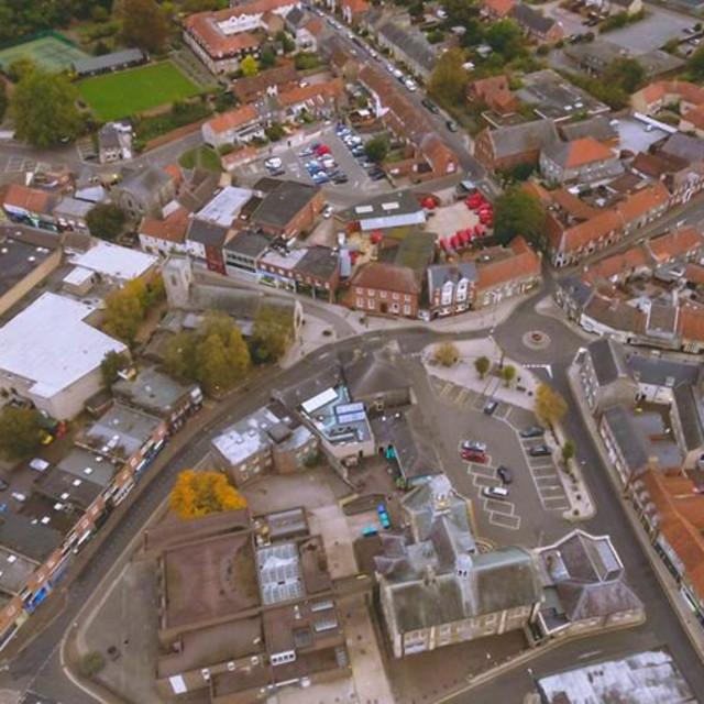 """Thetford Norfolk Town Centre"" stock image"