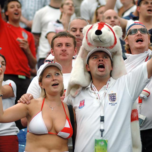 """Gelsenkirchen Germany FIFA World Cup 2006 Quarter final England vs Portugal..."" stock image"