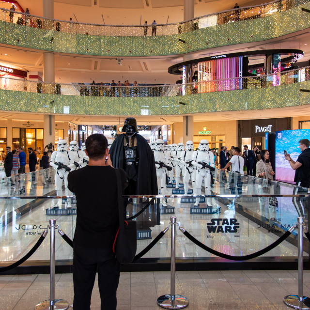 """""""Star wars characters show in Dubai mall"""" stock image"""