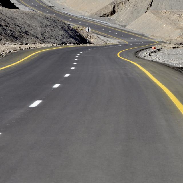 """""""Omani Highway 1"""" stock image"""