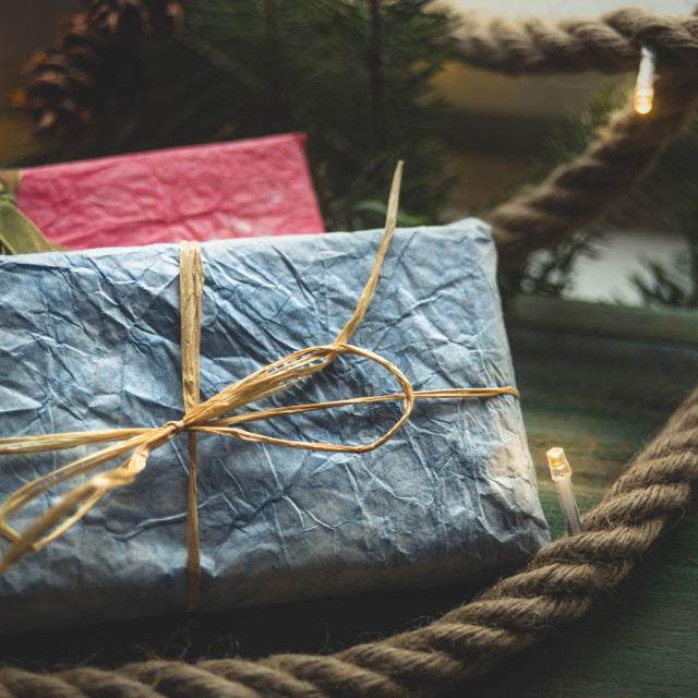 """Blue gift"" stock image"