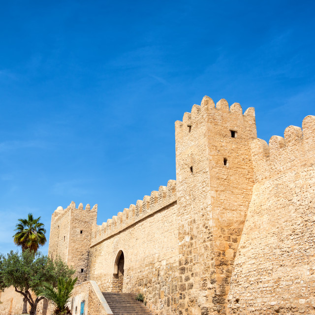 """""""Ancient Walls of Sousse, Tunisia"""" stock image"""
