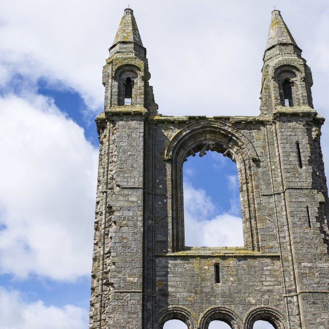"""""""East Tower, The Cathedral of St. Andrew (also known as St. Andrews..."""" stock image"""
