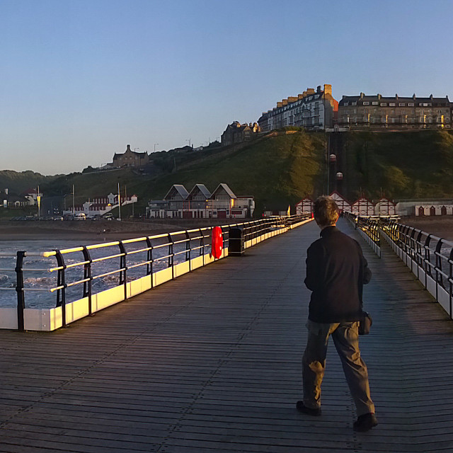 """Saltburn Panoramic"" stock image"