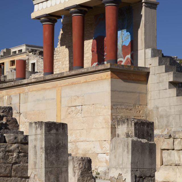 """Knossos Palace ruins, Crete, Greece"" stock image"