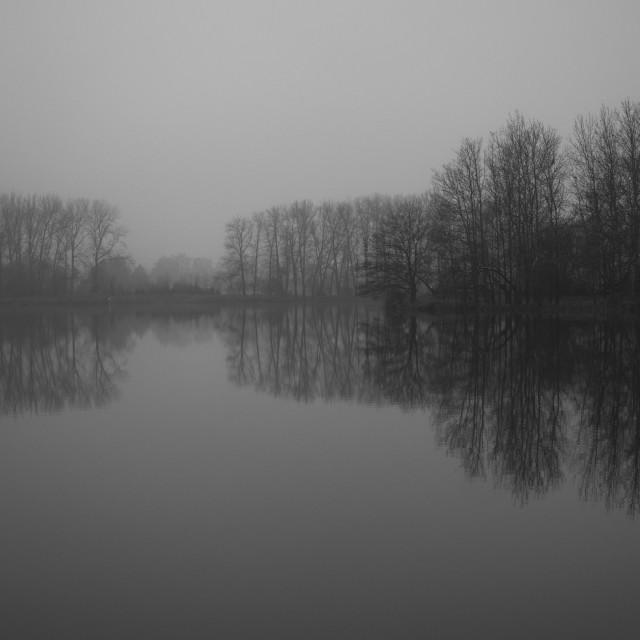 """""""Winter lake"""" stock image"""
