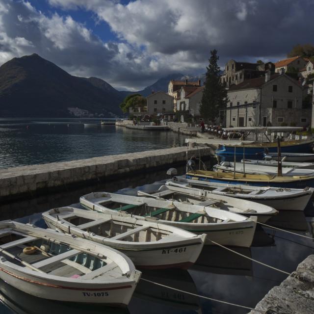 """Montenegro boats"" stock image"