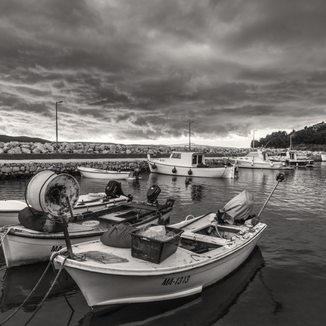 """""""Croatian harbour"""" stock image"""