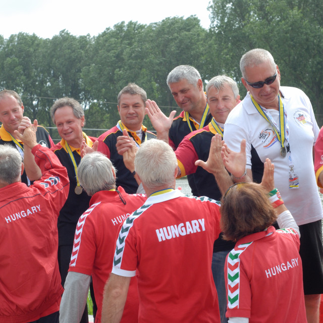 """Dragonboating - European Championships - Amsterdam Senior team, Hungarian..."" stock image"