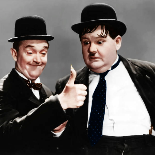 """""""Laurel and Hardy"""" stock image"""