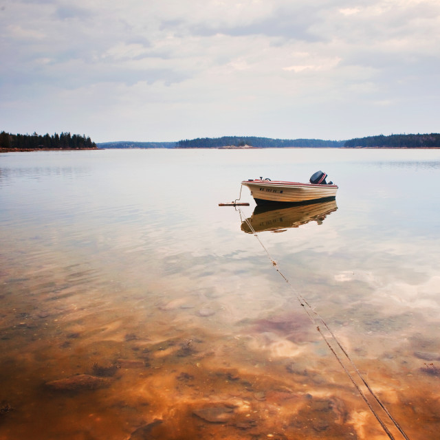 """Maine Fishing boat"" stock image"
