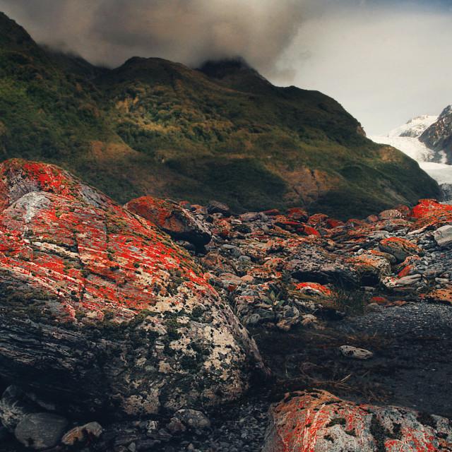 """FR Red Moss Glacier"" stock image"