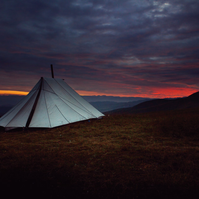 """""""FR Camping in Xiahe"""" stock image"""