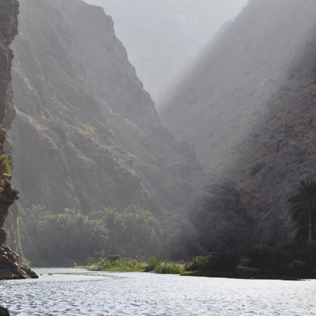 """""""Oman Wadi Shab"""" stock image"""