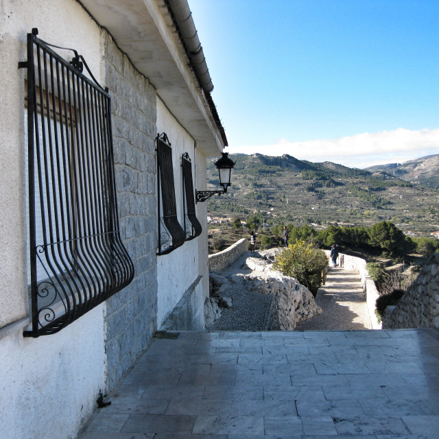 """View from Guadalest"" stock image"