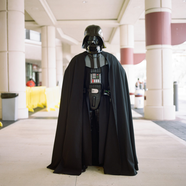 """Darth Vadar at Star Wars Celebration in Orlando, Florida USA"" stock image"