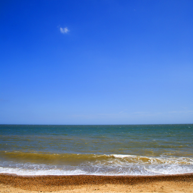 """Sea and Sky Southwold Suffolk England"" stock image"