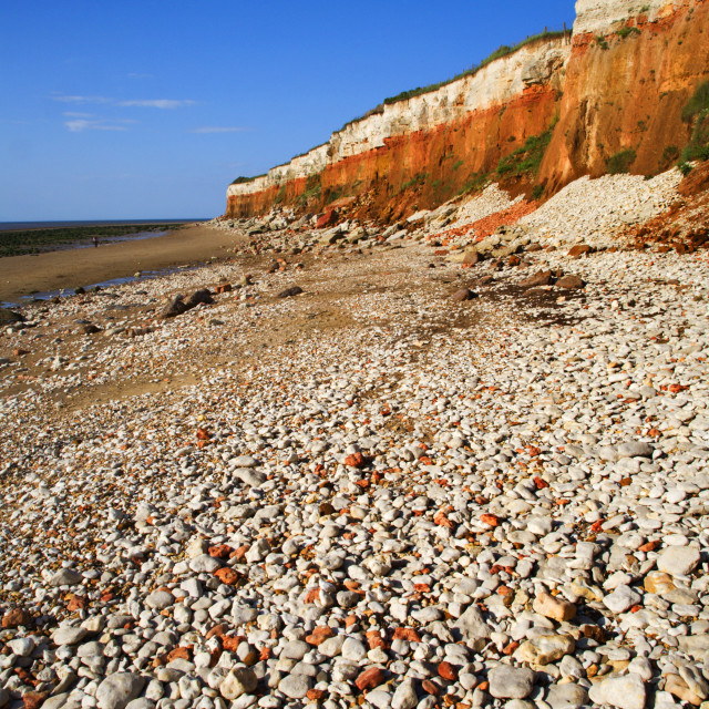 """Colourful Hunstanton Cliffs Norfolk England"" stock image"