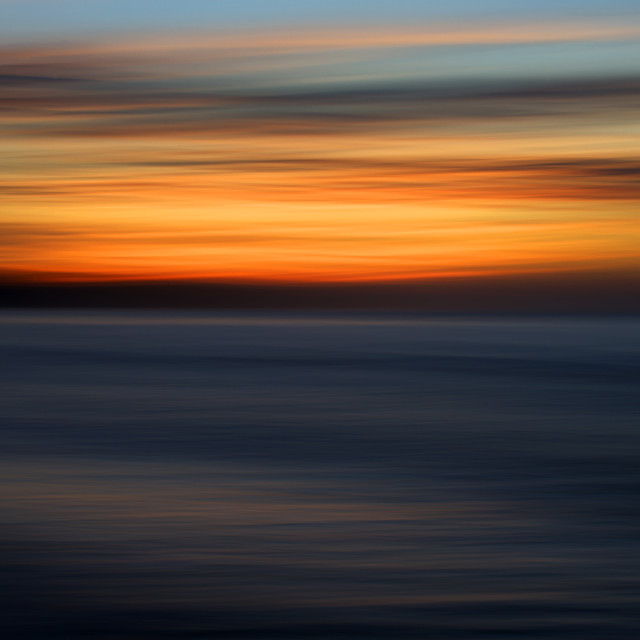 """Abstract Sunset at Whitby"" stock image"