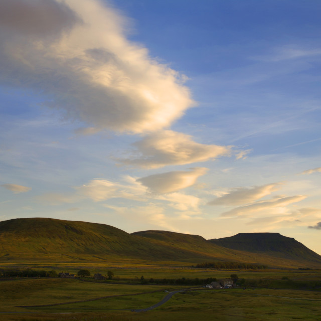 """Ingleborough in Summer"" stock image"