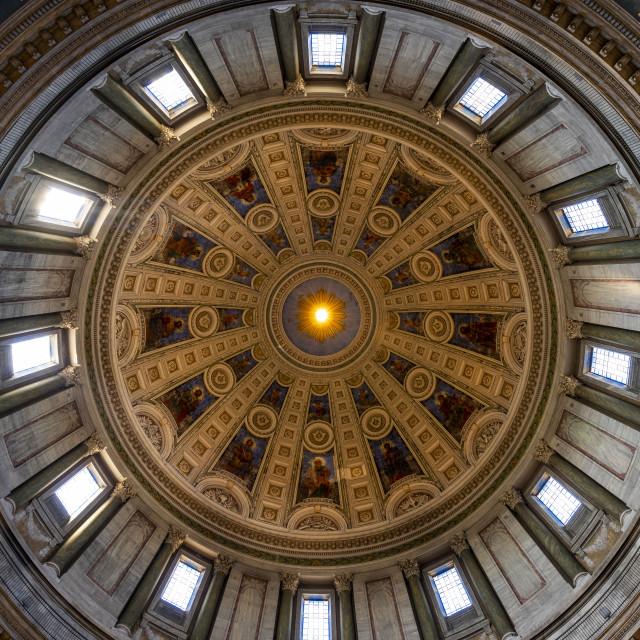 """Frederiks Kirke Church Ceiling"" stock image"