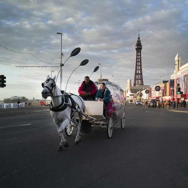 """Blackpool Horse Carriage"" stock image"