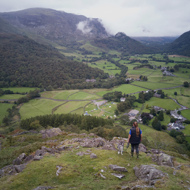 """Borrowdale Valley Elevated View 