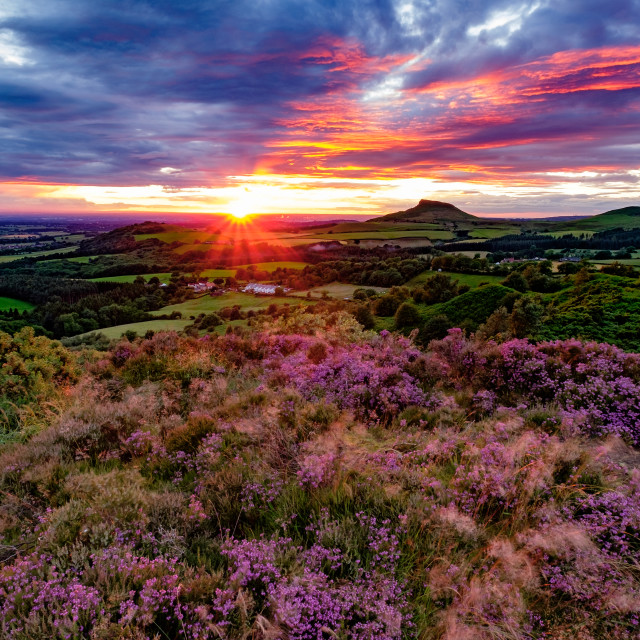 """Roseberry Topping Sunset"" stock image"