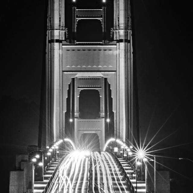 """golden gate bridge evening commute traffic"" stock image"
