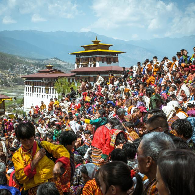 """Paro Festival in Bhutan"" stock image"