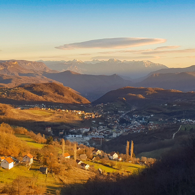 """Bosnia golden hour"" stock image"