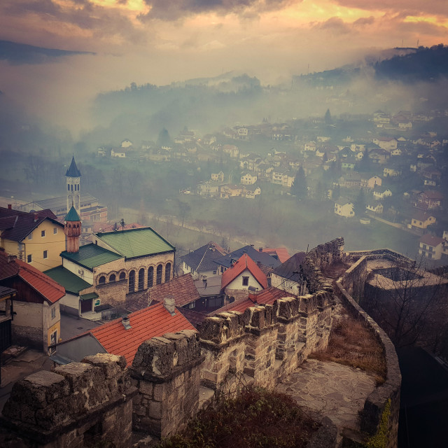 """Jajce fort, Bosnia"" stock image"