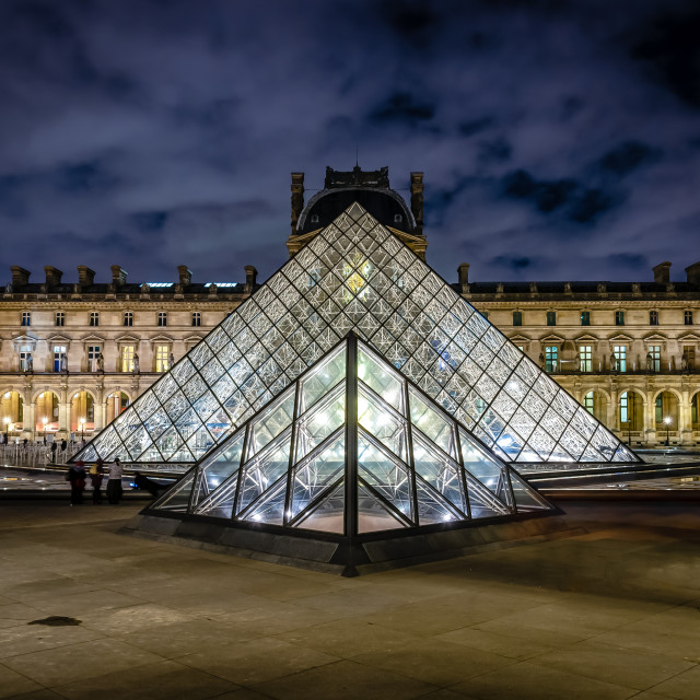 """""""The Louvre Pyramid"""" stock image"""