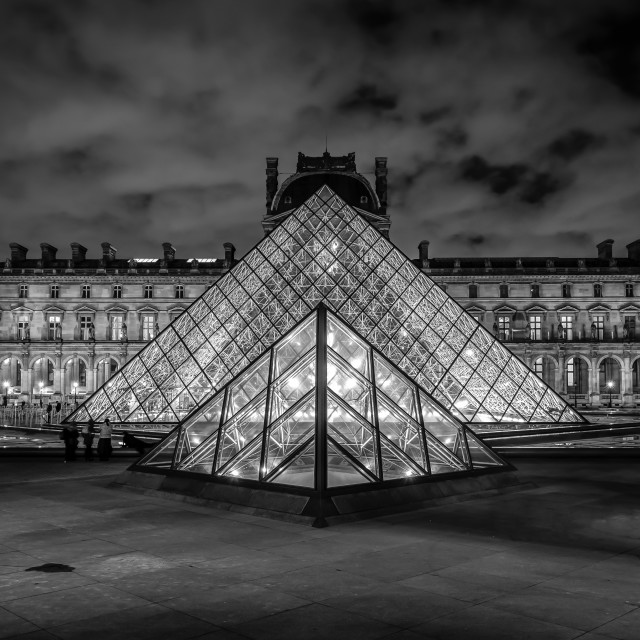 """The Louvre Pyramid"" stock image"