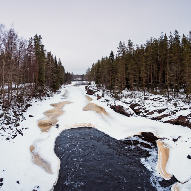 """""""Waves In The Freezing River"""" stock image"""
