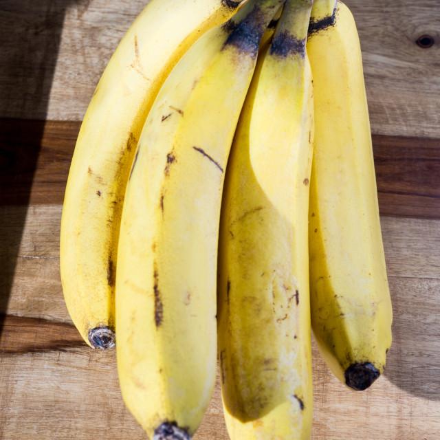 """Organic Bananas"" stock image"
